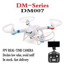 Оригинал DM007 (GW007/GW007-1 Обновления) в Режиме реального Времени Вертолет Drone 2.4 Г 4CH С WIFI FPV 720 P HD Камера Mode2 Quadcopter