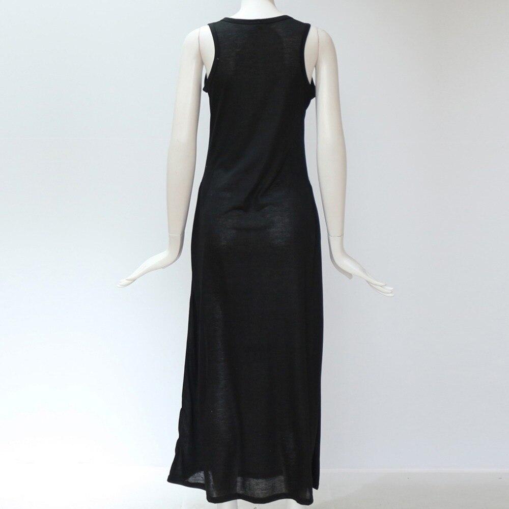 2018 Women Summer Long Maxi Dress Casual Cat Print Boho Beach Dress Sexy  Evening Party Bodycon ... 9d0dabdeaf24