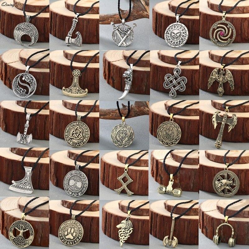 Norse Statement Viking Necklace Men