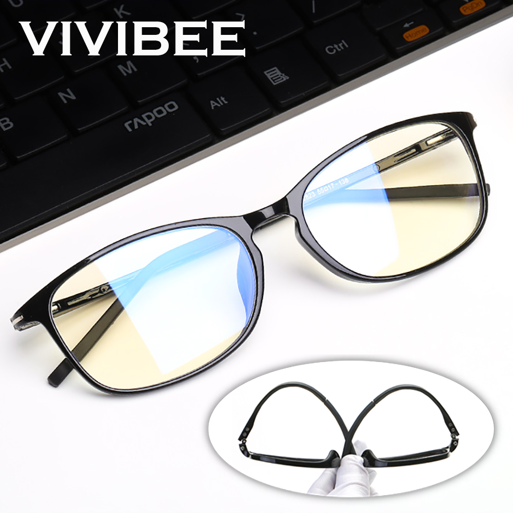 VIVIBEE Anti Blue Light Glasses Men Bluelight Radiation Women  TR90 Computer Protection Gaming Glasses Blue Blocking UV Eyewear