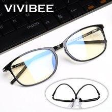 VIVIBEE okulary blokujące niebieskie światło komputerów mężczyźni Bluelight promieniowanie kobiety TR90 ochrona komputera Gaming Ray blokowanie UV Komputer Eyewear