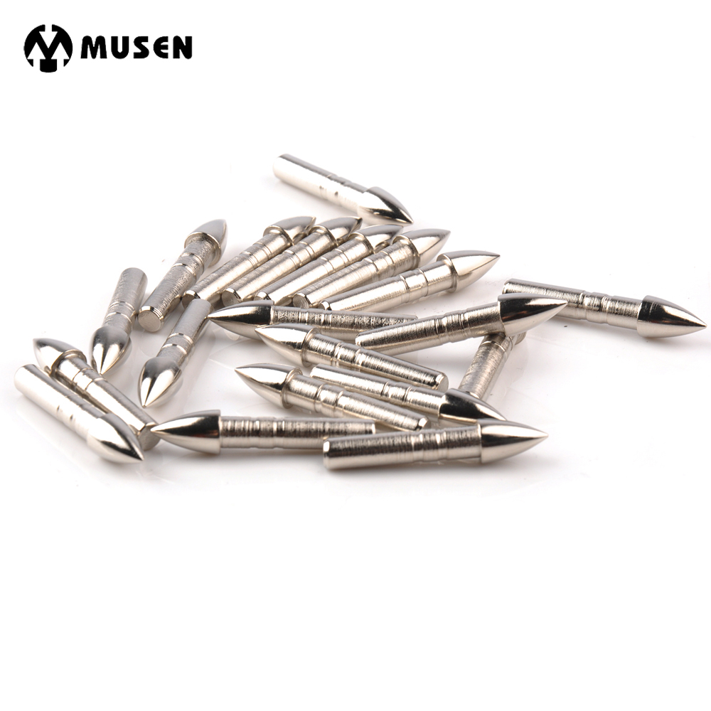 20/40/100pcs Arrow Broadheads Target Point Stainless Steel Broadhead for OD 7.0mm Glass Fiber and Carbon Arrows Shooting Hunting