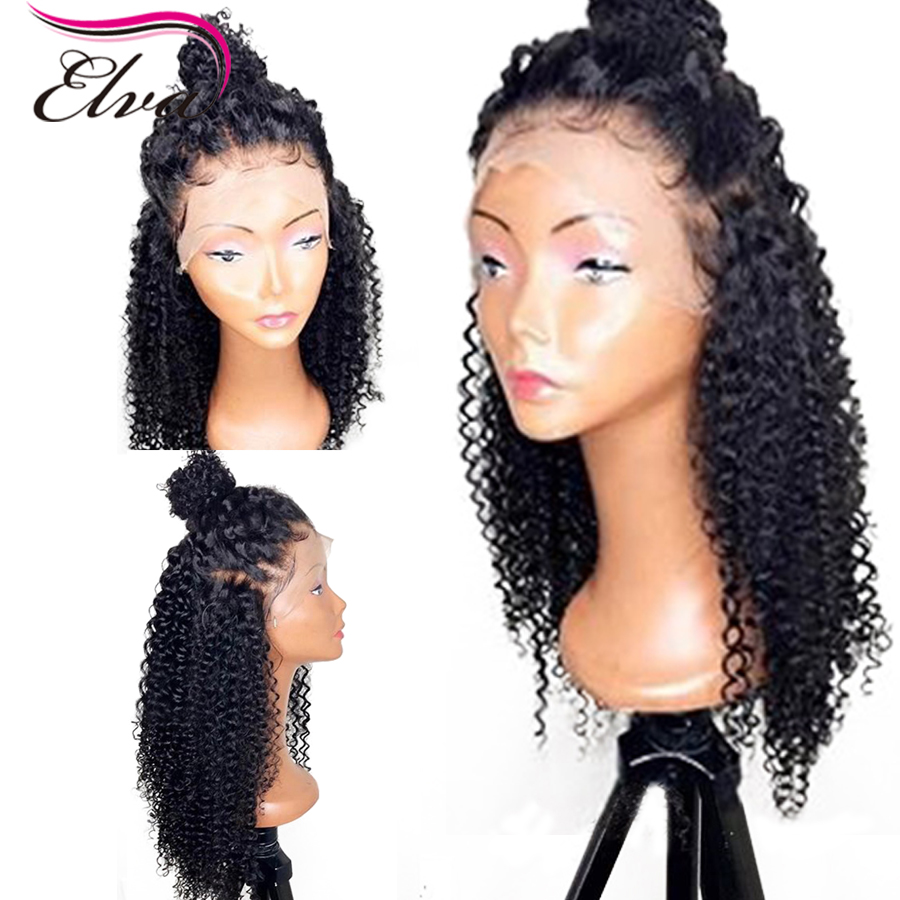 Elva Hair Lace Front Human Hair Curly Wigs Pre Plucked Front Lace Wigs For Women Brazilian Remy Hair Wigs With Baby Hair