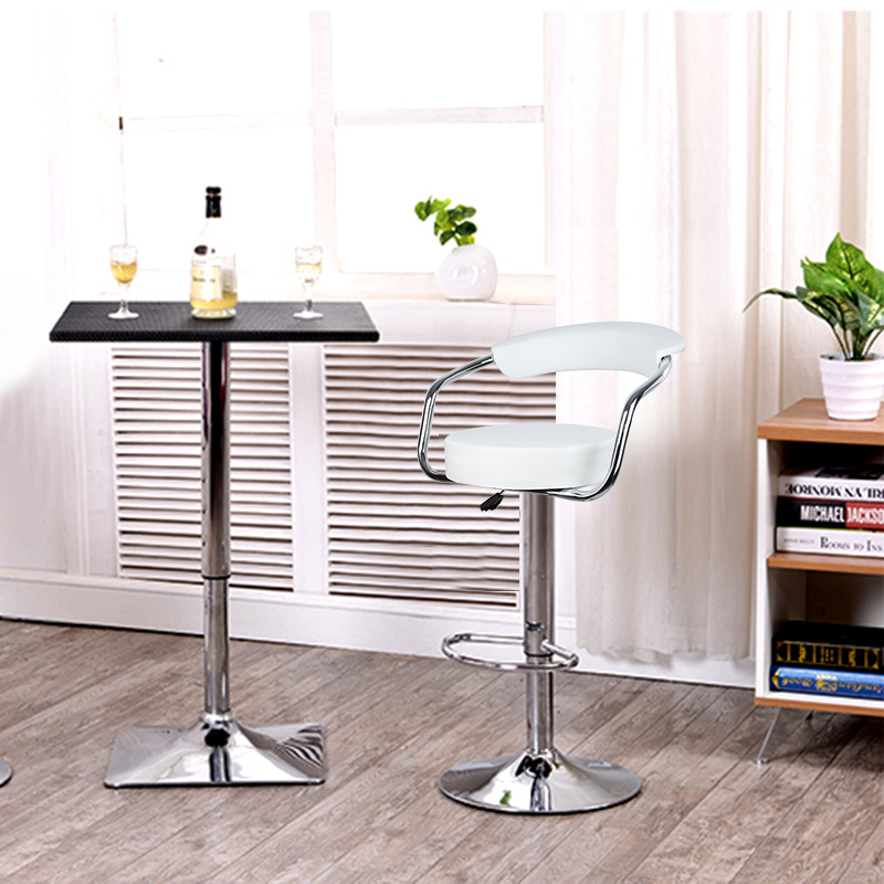 New Arrival JEOBEST 2pcs pair Adjustable Gas Lift Bar Stools Modern PU Leather Hollow Backrest chair