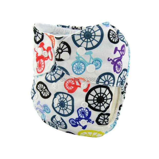 1 New Design Bike Baby Infant Pocket Cloth Diaper 1 Diaper 1