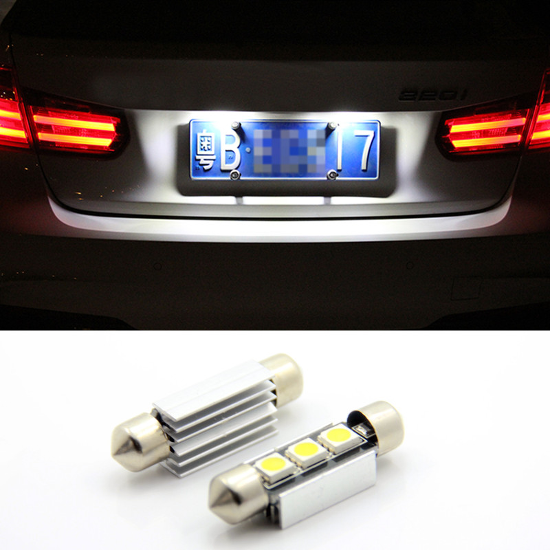 Free shipping,2x super bright License plate Light No Error 3 SMD LED For Volvo S40 S60 S80 V50 V70 C30 C70 XC90 70 2pcs error free led smd license plate light for toyota land cruiser lexus gx lx470 new dropping shipping