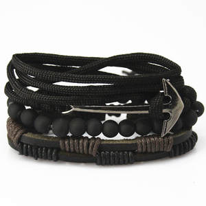 CCD Bead Leather Bracelets bangles for Women Wristband Men