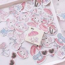 45pcs/box Seaside holiday decoration stickers DIY Scrapbooking Sticker kawaii diary label sealing