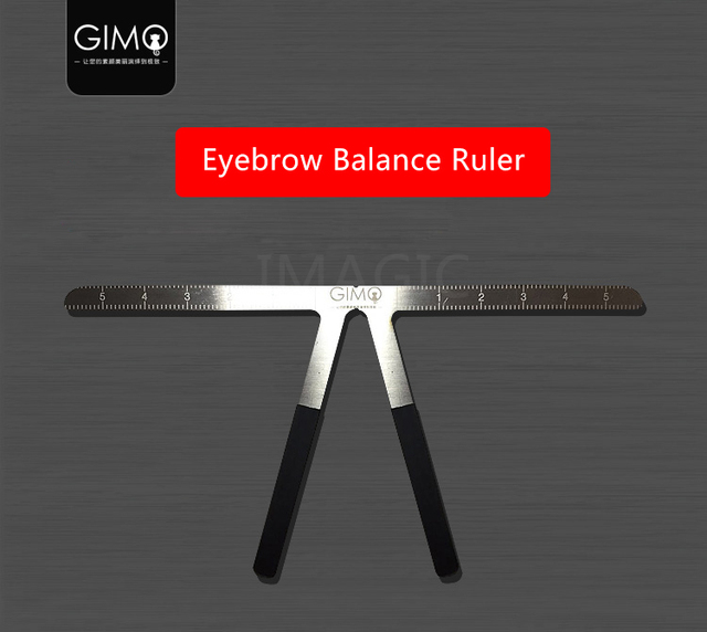 2019 HOT Tattoo Eyebrow Ruler 3d measuring ruler Balance Ruler Brow Template DIY Make Up Tools maquillaje profesional brow stenc 4
