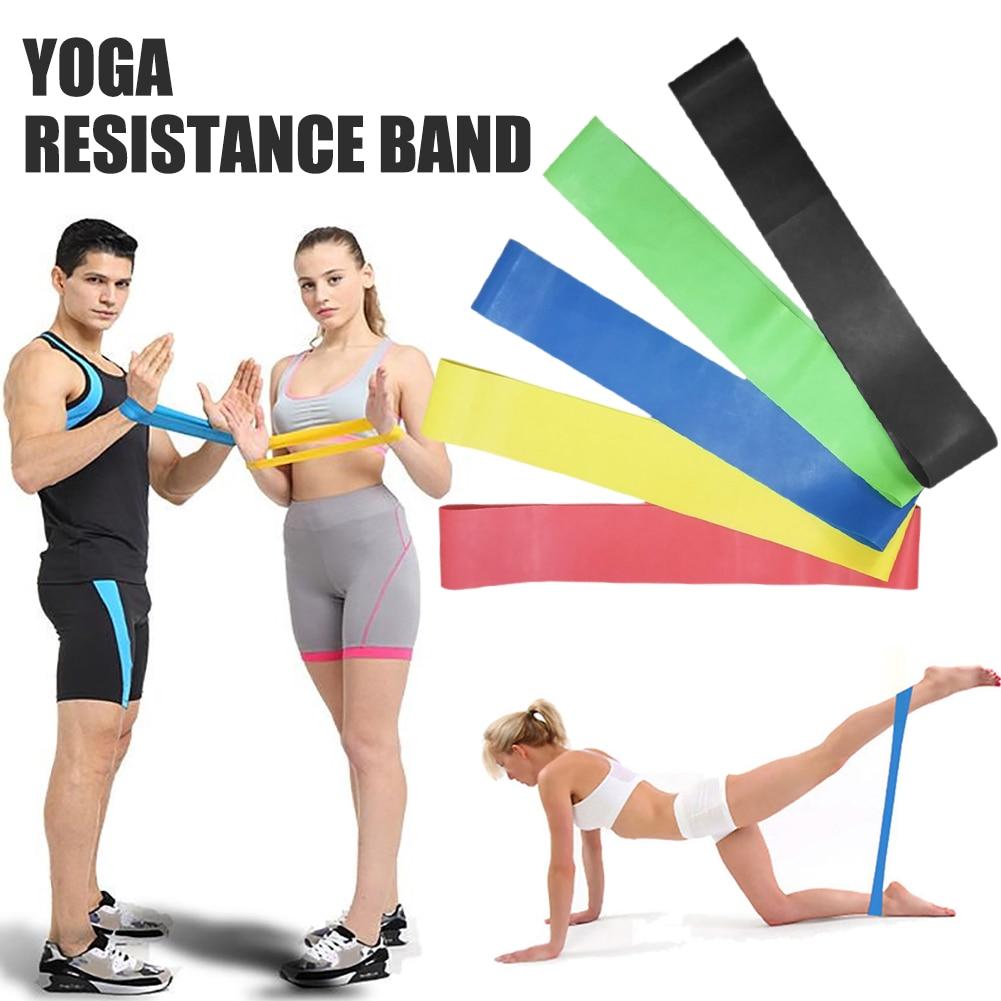 5pcs//set Workout Resistance Bands Loop Fitness Yoga Leg Strength Elastic Band