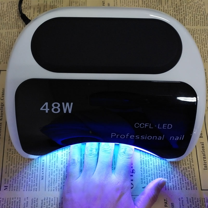 48W UV LED Nail Lamp Manicure/Pedicure Nail Dryer Nail Light with 3 ...