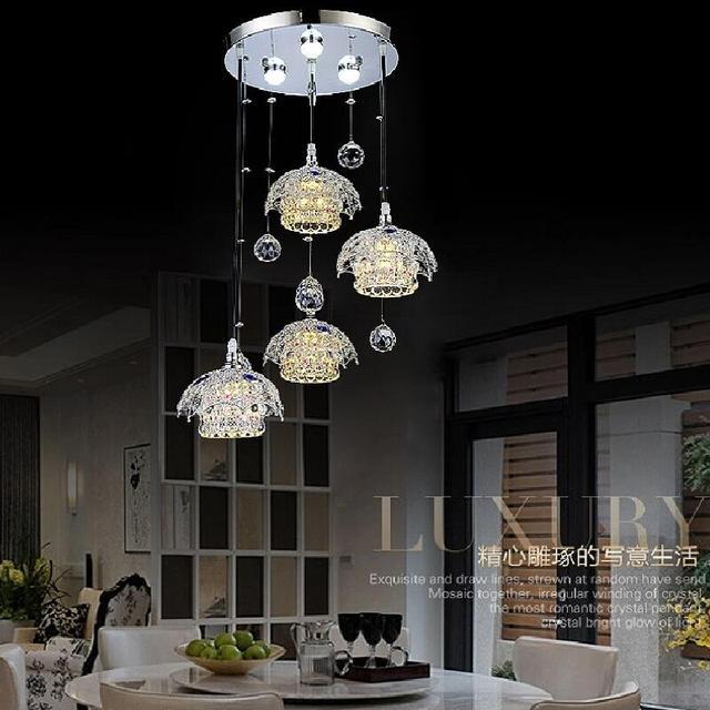 Lustro Moderno LED Lampadario di Cristallo di Illuminazione Per Sala ...