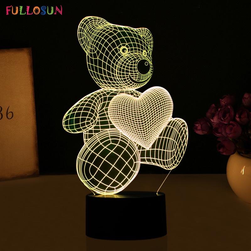 HTB1wIN7RVXXXXayXXXXq6xXFXXXz - Lampka Nocna Led 3D Miś