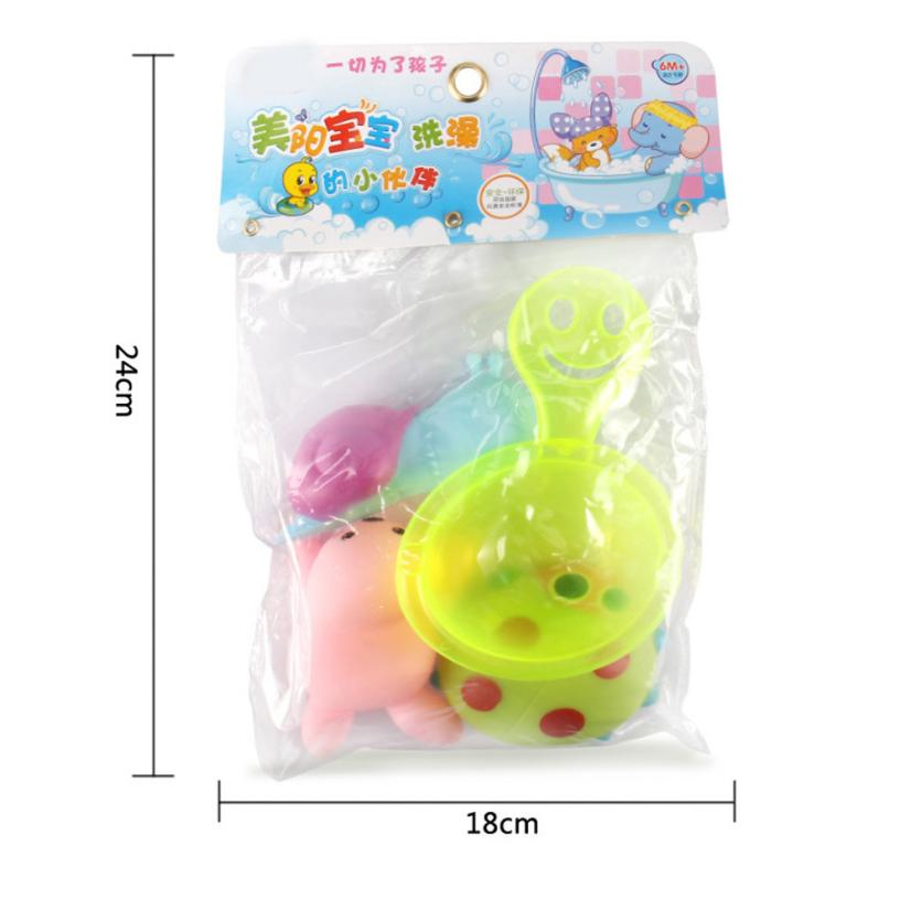 One Dozen 4pcs Rubber Animals With Sound Baby Shower Party Favors Toy Z807