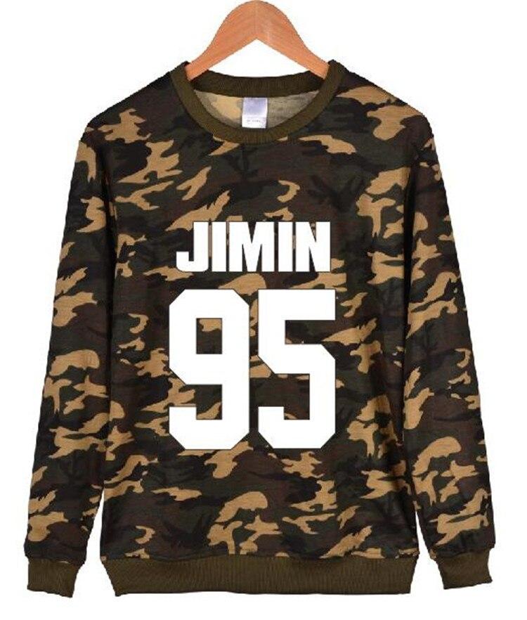 Kpop BTS Bangtan Boys airport Donald Duck printing round neck Hoodies k-pop bts autumn Outerwears Long sleeve Sweatshirts coat