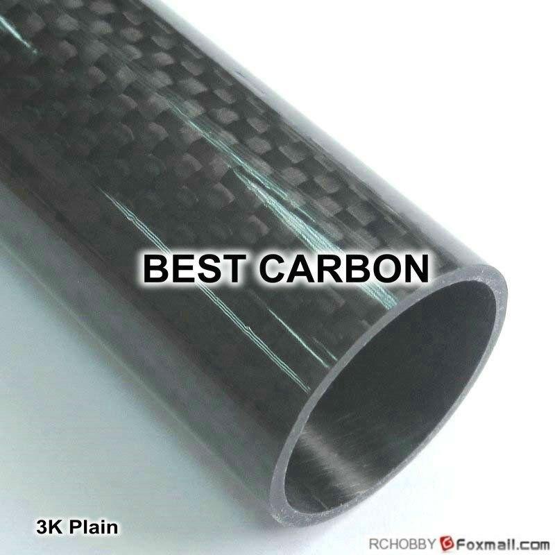 40mm x 36mm x 1300mmm di Alta Qualità 3 k Tessuto In Fibra di Carbonio Ferita Tubo