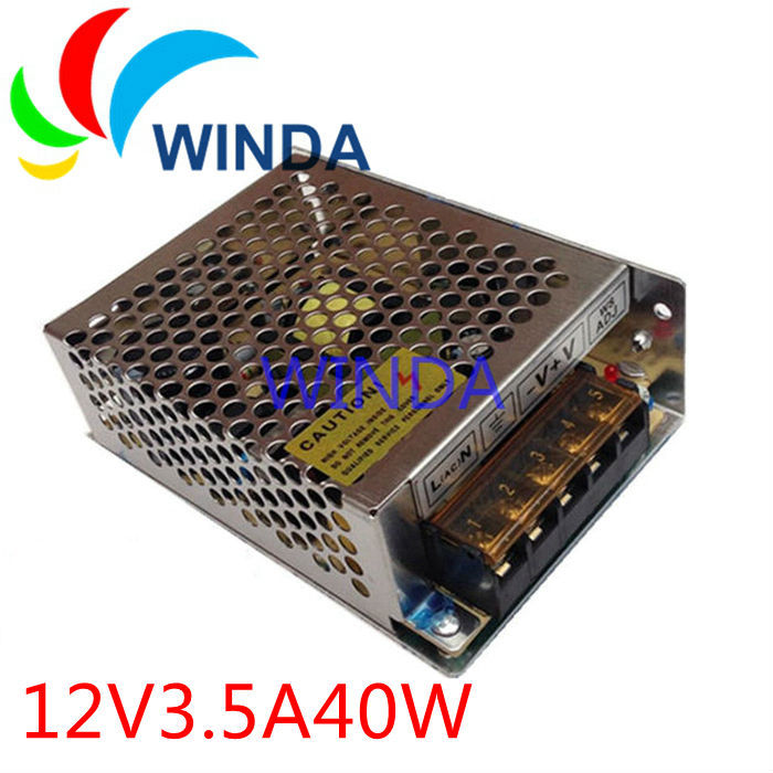 40W LED display video camera switching power supply output 12V 3.5A 42W input 110V 220V small size