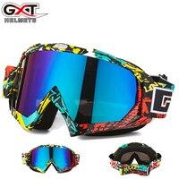 GXT Multi Lens Snommobike Ski Goggles Sunglasses UV400 Snowboard Skiing Glasses Windproof 2017 Motocross Mask Helmet