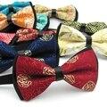China estilo arco floral gravata borboleta masculino casamento gravata 10 pçs/lote