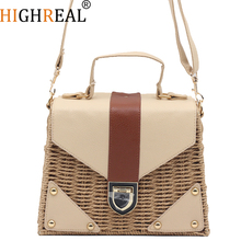 Rattan bag Small Handmade Straw Bag Instagram Popular Beach Bag for Women Crossbody Ata Handbag Luxury Designer Shopping Bags