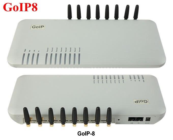 Passerelle gsm GoIP 8 ports/passerelle sip voip/passerelle IP GSM/passerelle GSM GoIP8 support de passerelle VoIP gsm SIP/H.323-offre de prix spéciale