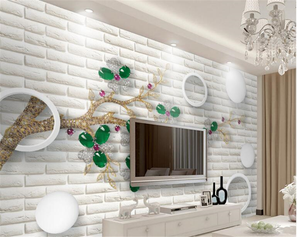 Beibehang 3d Wallpaper Modern Hd Beautiful Wallpaper Simple Jewelry