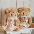 30 cm 2 Pcs/set  Baby Sister Teddy Bear With Dress Soft Stuffed Plush Toy Chrismas Gift For Kids