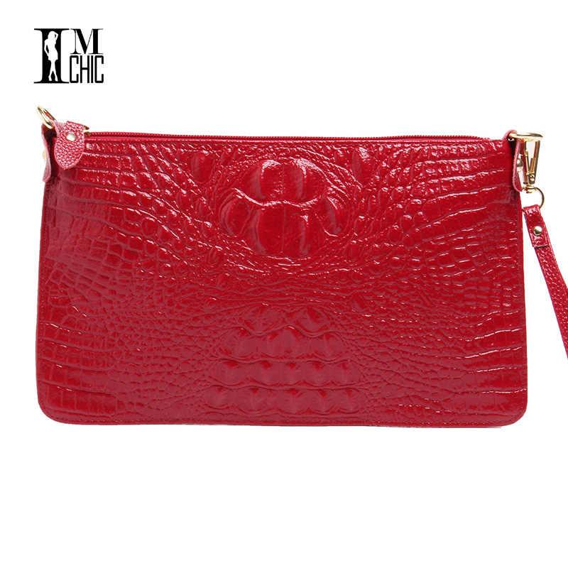 730eb8d6d022 ... Фабричная распродажа новинок, Женская винтажная сумочка-клач из спилок  с отделкой под крокодиловую, ...