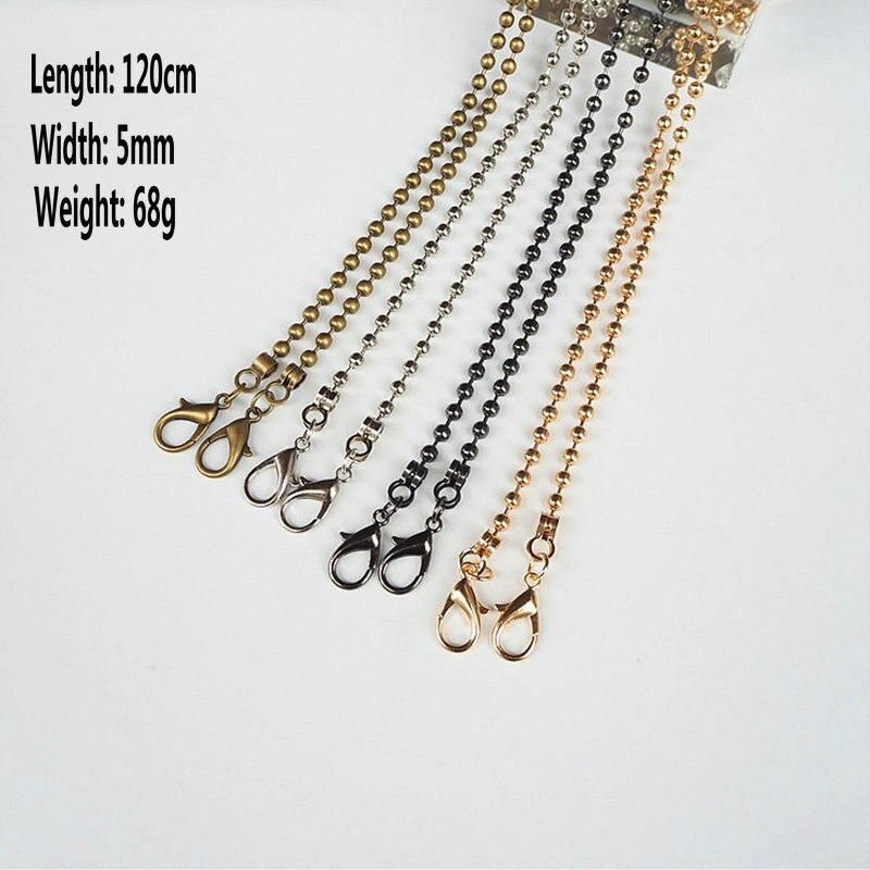 Bdthooo 20 개/몫 120 cm diy 교체 금속 체인 버클 핸들 핸드백 가방 어깨 스트랩 실버 가방 액세서리 하드웨어-에서가방 부품 & 액세서리부터 수화물 & 가방 의  그룹 3