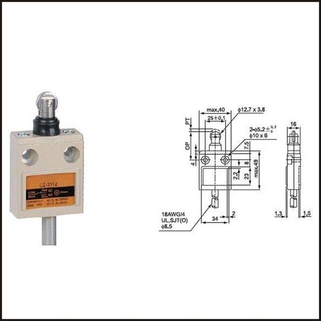 switch travel limit switch 15a electrical safety key interlock Wiring Diagram for Motor switch travel limit switch 15a electrical safety key interlock switch compact prewired switch cz 3112