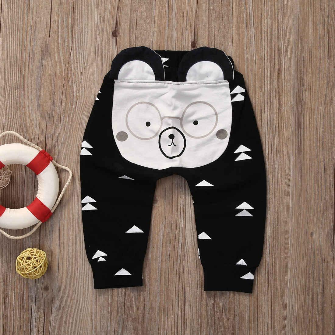 dc94444544fa8 ... Baby Girl Boy Pant Cartoon Newborn Baby Boys Girls Harem Pants Bear Cat  Deer Bottoms Leggings ...