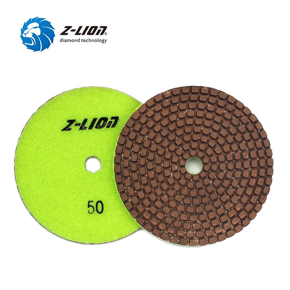 цена на Z-LION 4 1 Piece Diamond Metal Polishing Pads Copper Particles Grinding Wheel Stone Granite Marble Fast Diamond Sanding Disc