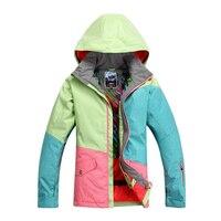 2016 Winter Female Snowboard Jackets Woman Ski Coat Snowboard Ski Suit Snow Wear Jacket Sportswear Jaqueta