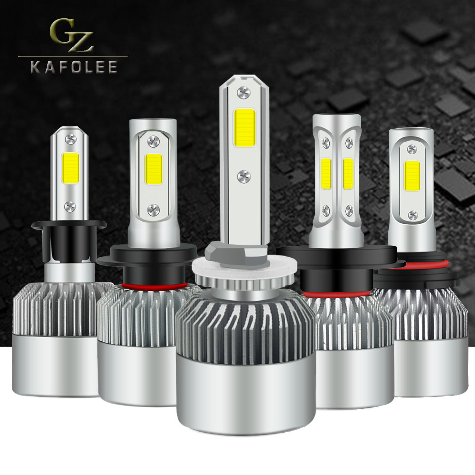 Car Headlight Bulbs 2Pcs White h7 Led H4 Hi Lo Emitting Color 6000K H11 H10 h27 9008 H13 12v H1 H3 24v Csp Cob Chips