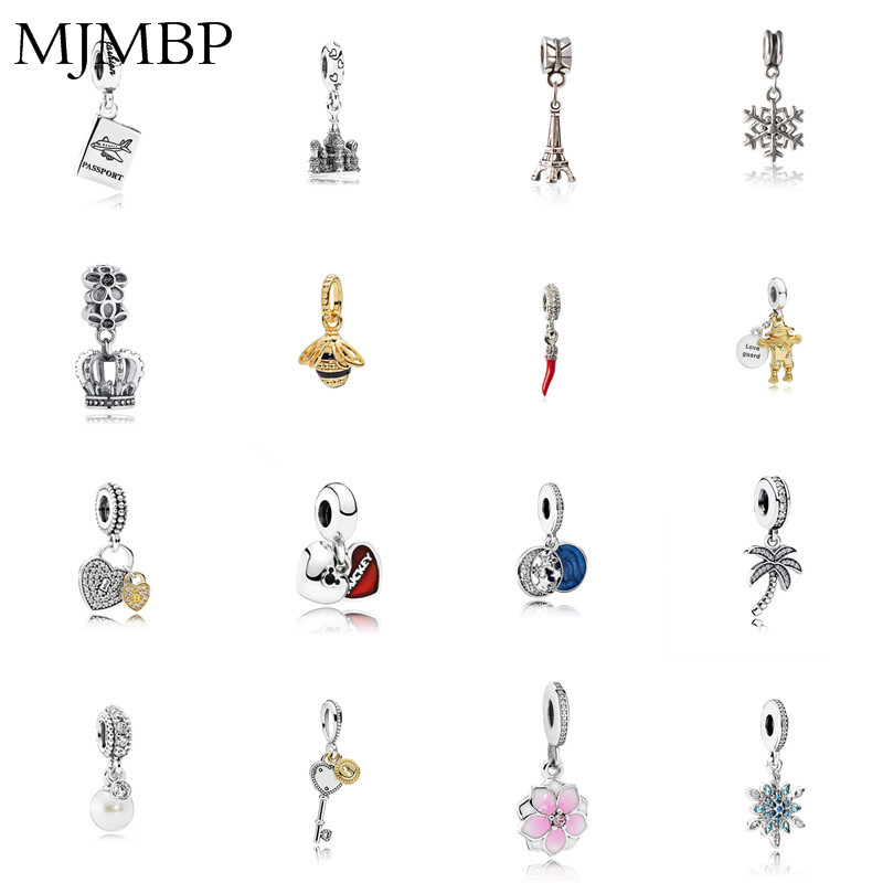 Crown/Chili/Star/Lock/Bee/Tower Pendant DIY Charms Beads Fit Pandoraa Gift For Bracelet & Necklaces Jewelry Making Women Gifts