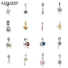Crown/Chili/Star/Lock/Bee/Tower Pendant DIY Charms Beads Fit Pandoraa Gift For Bracelet & Necklaces Jewelry Making Women Gifts(China)