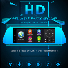 "7 ""3G Cámara Del Coche DVR GPS Bluetooth Grabadora de Doble Lente de Espejo Retrovisor de Vídeo FHD 1080 P de Automóviles Espejo DVR Dash Cam"