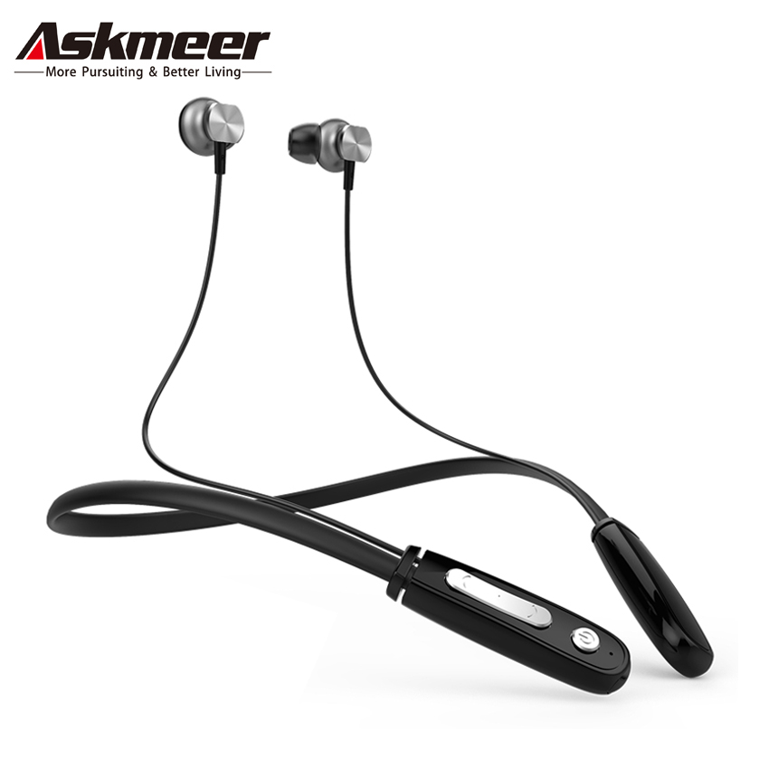 Askmeer Anti-sweat Sport Bluetooth Headset Handsfree for Mobile Phone Stereo Earphones Wireless Blue tooth Headphones with Mic k6 voyager legend bluetooth headset handsfree wireless stereo 4 1 bluetooth car headphones a gift earphones carrying box
