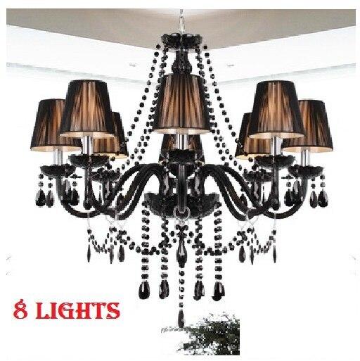 Free Shipping Modern Black crystal Chandelier lights Black  Chandelier Top Crystal pendant chandelier Lamps modern Lighting  цены