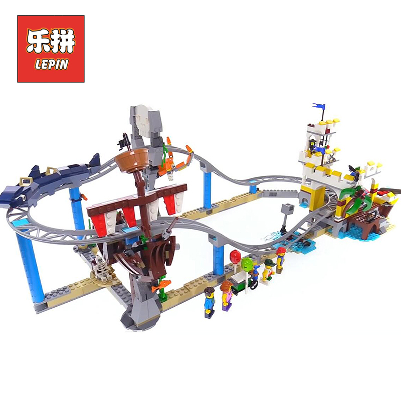 Lepin City Park 24051 the Pirate Roller Coaster 3 in 1 Model Building Blocks Bricks 31084 Legoinglys Creators Toys for Children