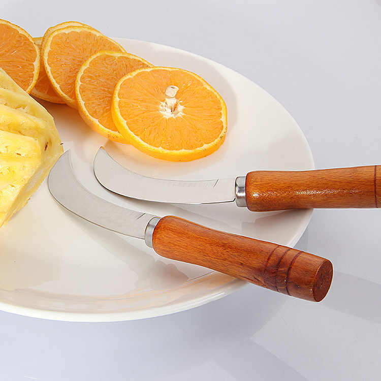 1 pc Machete Faca de Cozinha ferramentas De Aço Inoxidável Descascador de Abacaxi faca de Frutas Banana Pequena lidar com cortador de madeira