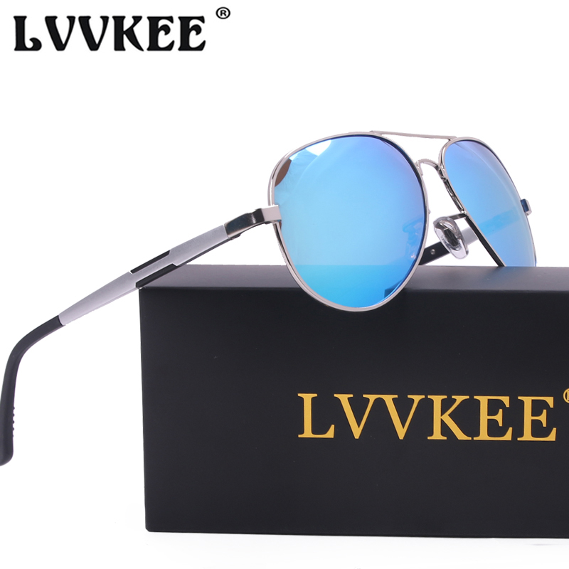 LVVKEE 2018 Hot Sale Brand aluminum-magnesium car drivers Sunglasses Mens anti-glare polarizer Sun Glasses Driving Eyewear Male