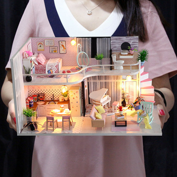 Doll House Miniature With Furnitures Diy Dollhouse Wooden Toys For Children Birthday Christmas Gifts Anna's pink melody M035 doll house miniature diy dollhouse with furnitures wooden house toys for children birthday christmas gift your name 13842