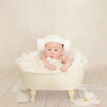 newborn Photography Props Iron Shower Bathtub photo shooting bathtub prop creative lovely newborn baby and girl