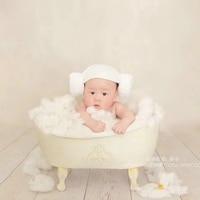 newborn Photography Props Iron Shower Bathtub photo shooting bathtub prop creative lovely newborn baby and girl