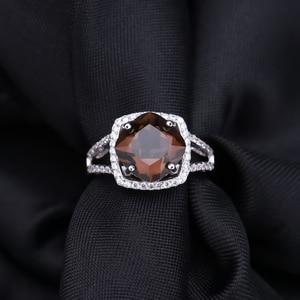Image 4 - Ensemble de bijoux en Quartz fumé, pour femmes, BALLET, boucles doreilles et pendentif, en argent Sterling 925, pour mariage