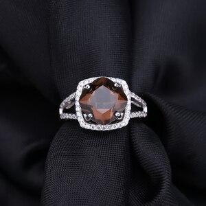 Image 4 - Gems ballet 여성을위한 천연 연기가 자욱한 석영 보석 세트 결혼식 925 스털링 실버 귀걸이 반지 펜던트 세트 파인 쥬얼리