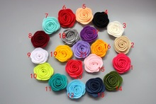 Free Shipping!2016 New 60pcs/lot 21colors Fashion handmade felt rose flower  Diy for hair accessories headband