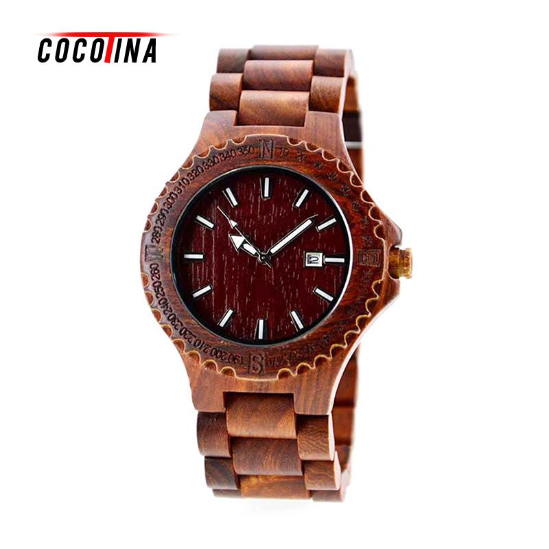 COCOTINA Luxury Wood Watch For Female Newest Quartz Watch Wooden Wrist Watch Band For Girls Birthday Gifts LSB9316 dwg analog luxury wood watch for women newest quartz watch maple walnut wooden wrist watch for girls orologi donna reloj mujer