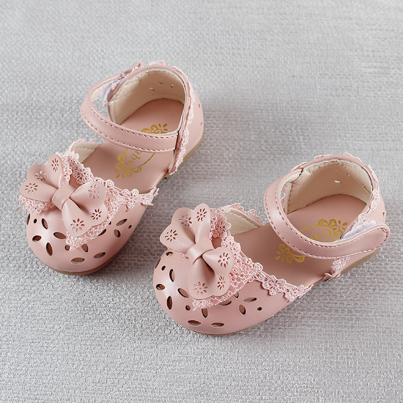 HTB1wIQRAlyWBuNkSmFPq6xguVXaF - Newest Summer Kids Shoes Fashion Leathers Sweet Children Sandals For Girls Toddler Baby Breathable Hoolow Out Bow Shoes